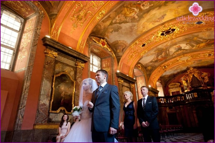 Wedding at Clementinum Palace