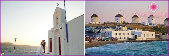 Mykonos island for a wedding