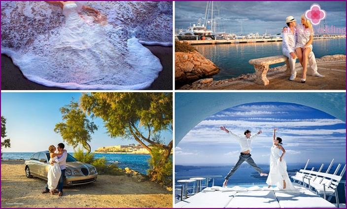 Ideas for a wedding photo shoot in Greece