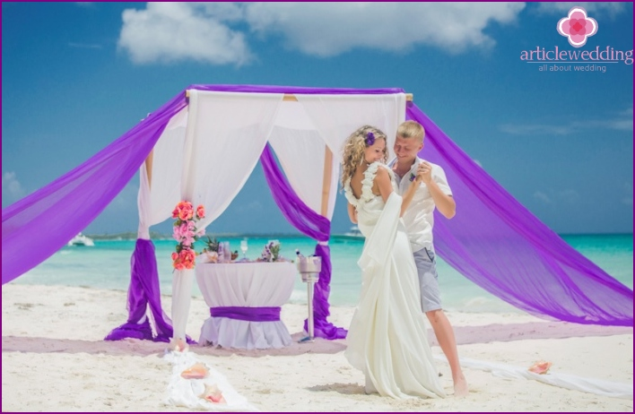 Wedding on the island of Saona in the Dominican Republic