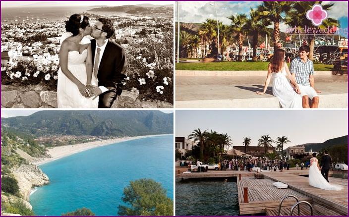 Wedding ceremony on the Aegean coast of Turkey