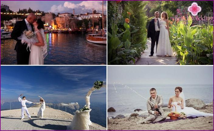Wedding on the Mediterranean coast of Turkey