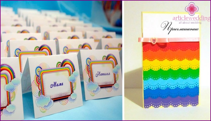 Examples of invitations to a thematic celebration