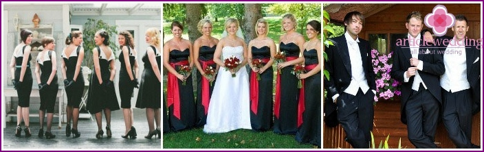 Clothing for witnesses and guests of a dark wedding