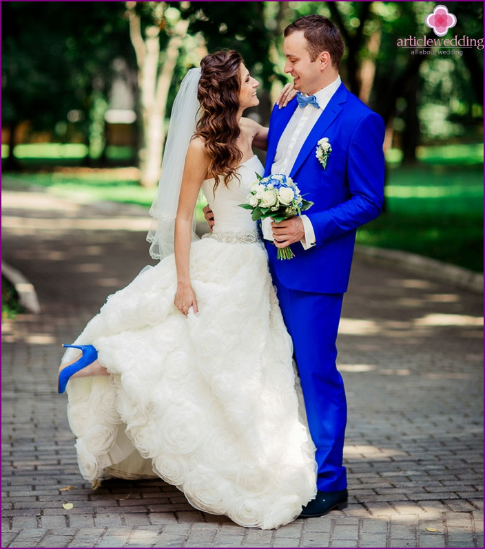 Wedding images of the bride and groom