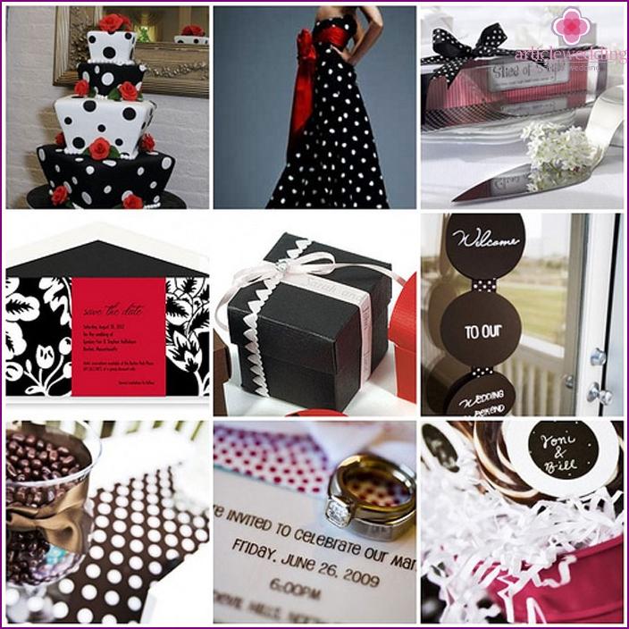Polka Dot Wedding Accessories