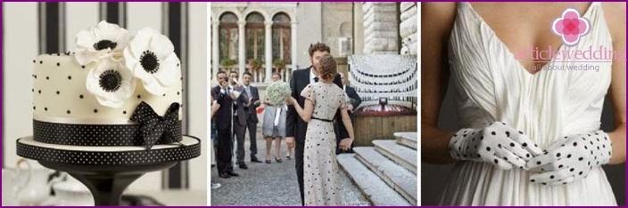 Polka dot print for wedding