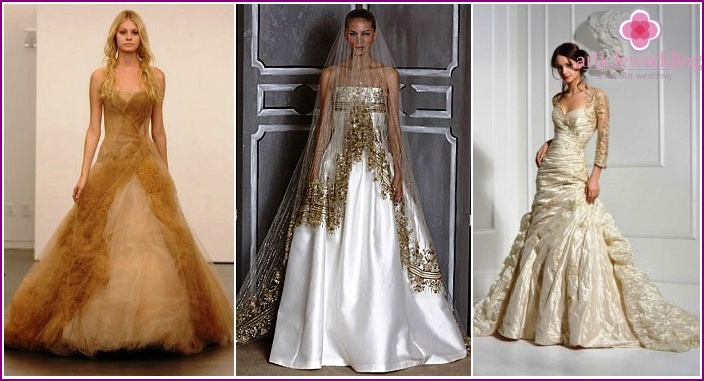Gold dresses for the hero of the occasion