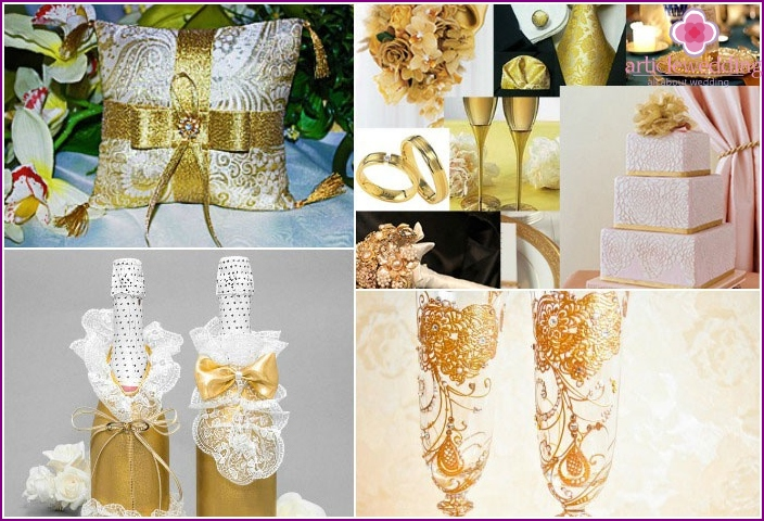 Gold Shades Accessories for Wedding