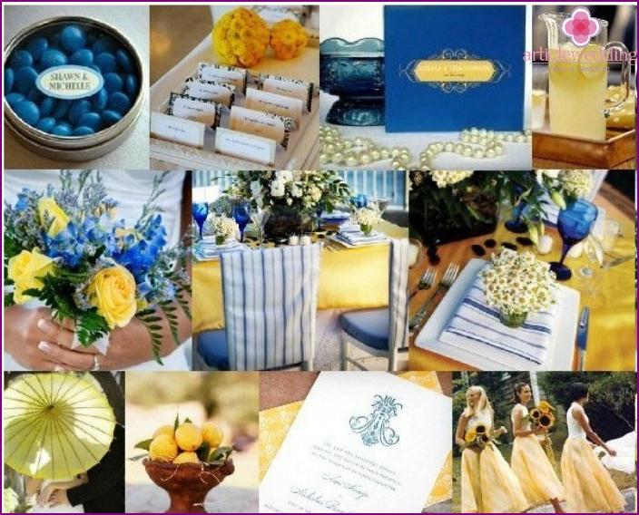 Gelbblaue Hochzeit