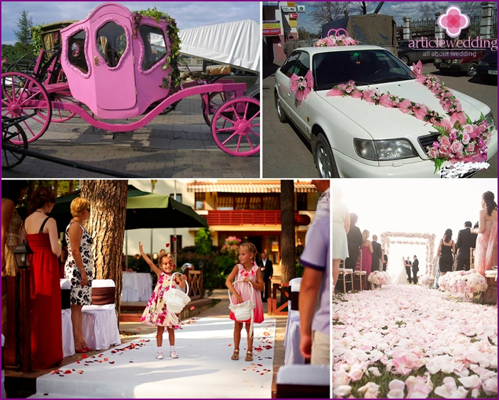 Ideas for decorating a pink wedding