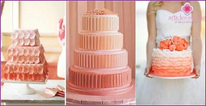 Cake gradient in coral gamut