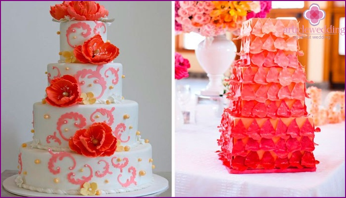 Cake in pink colors