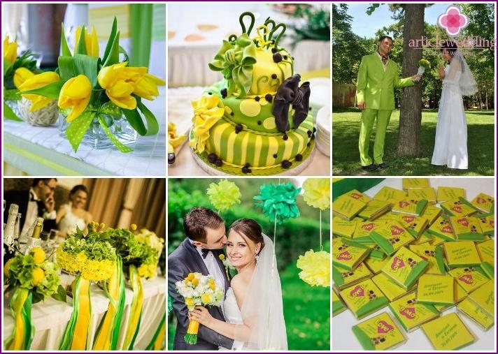 Gelbgrüne Hochzeit