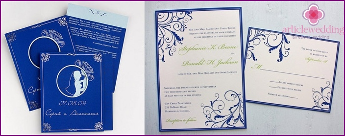 Ursprüngliche Einladungen für Gäste
