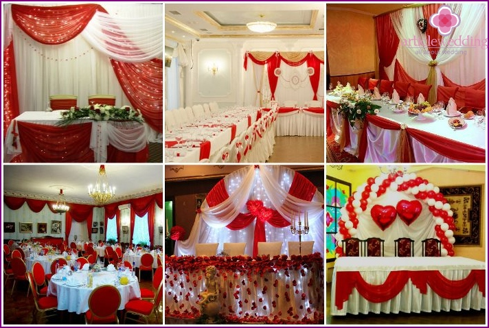 Room decoration for a red wedding