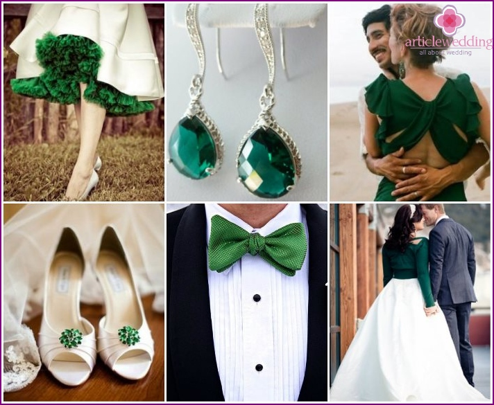 Young outfits for an emerald wedding