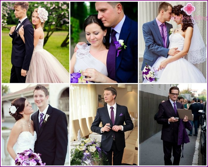 Lilac style groom outfit