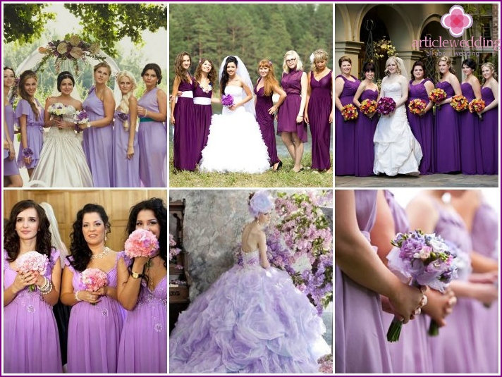 Photo of weddings in lilac color