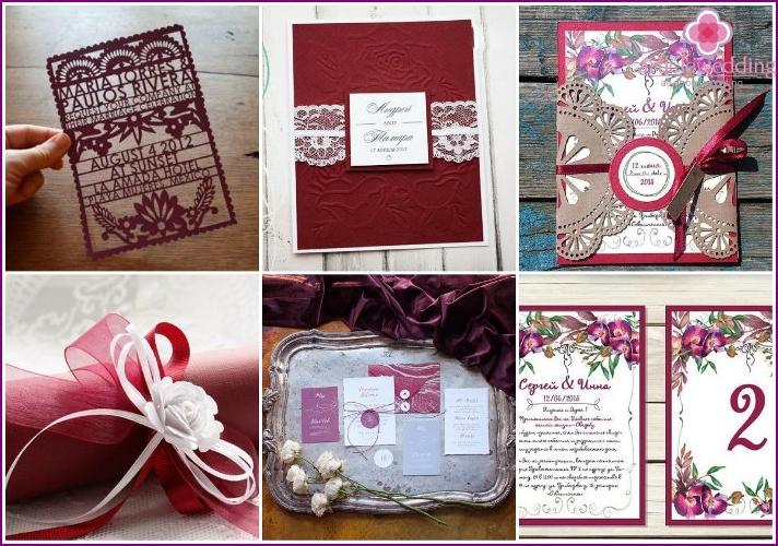 Marsala Hochzeitseinladungsfarben