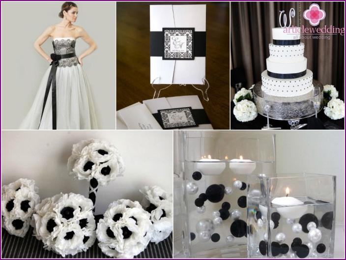 Elegant black and white wedding style
