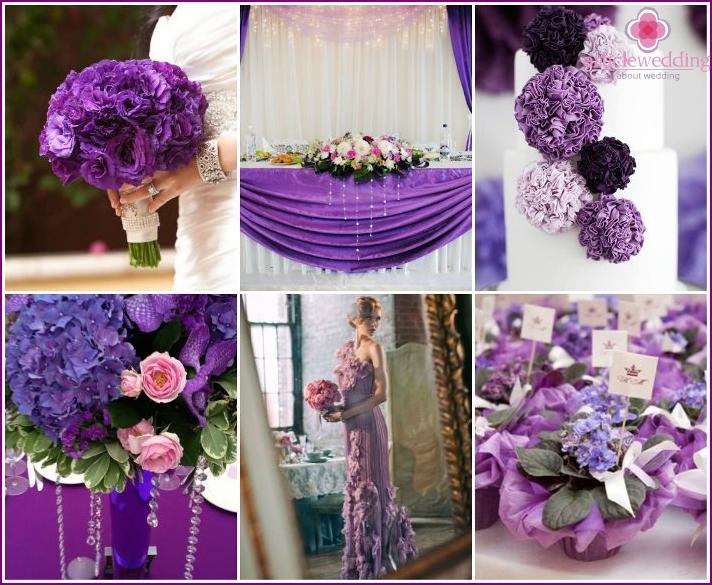 Purple color wedding