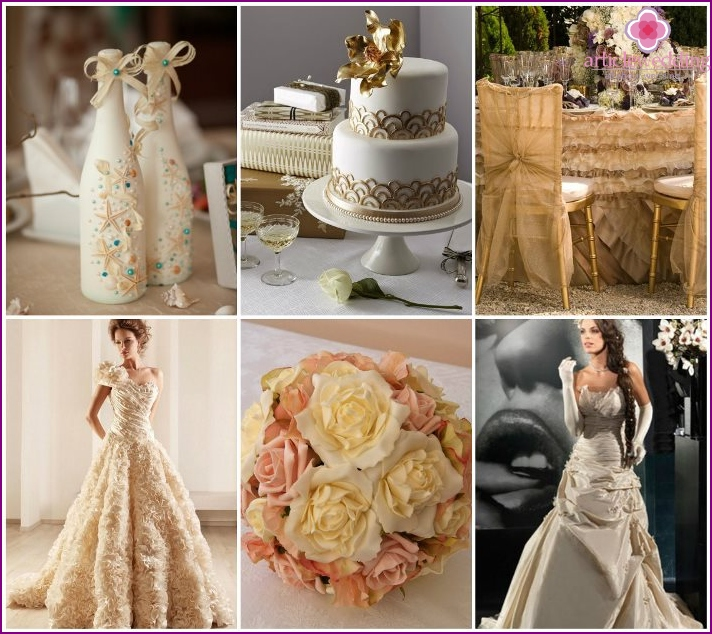 Champagne color wedding