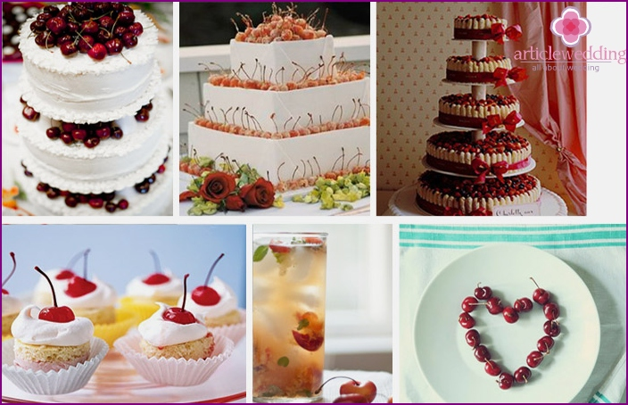 Holiday desserts with cherries