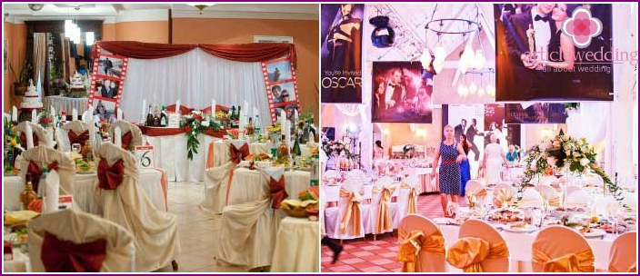 Hall design options for a Hollywood wedding