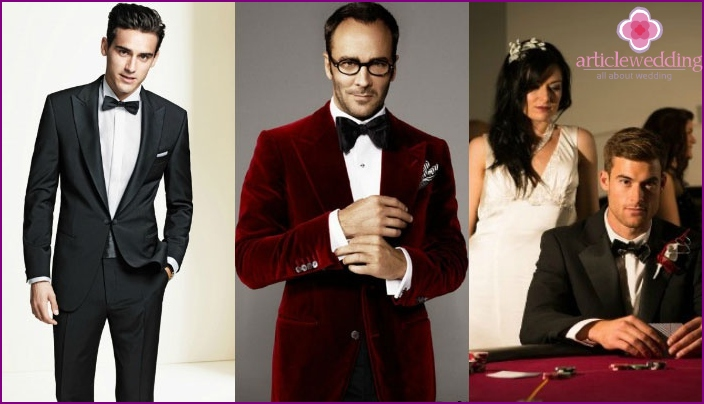 Casino style groom