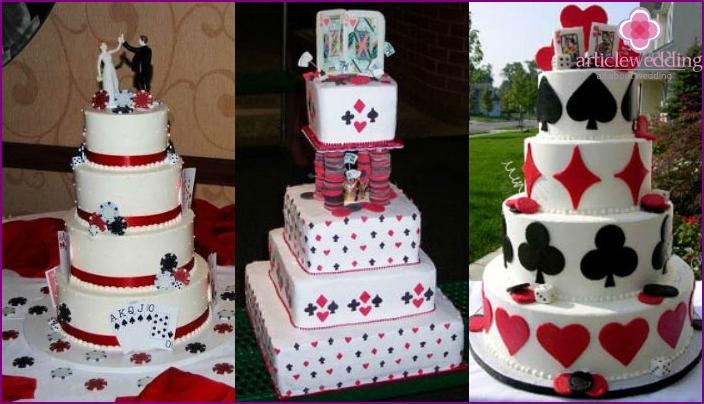 Casino Wedding Cake Options