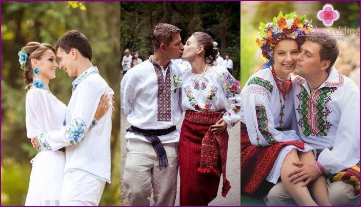 Options for groom's outfits for Ukrainian wedding