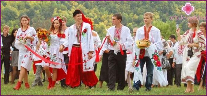 Hochzeitsfeier im ukrainischen Stil