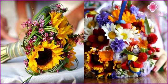 Ukrainian style wedding bouquet