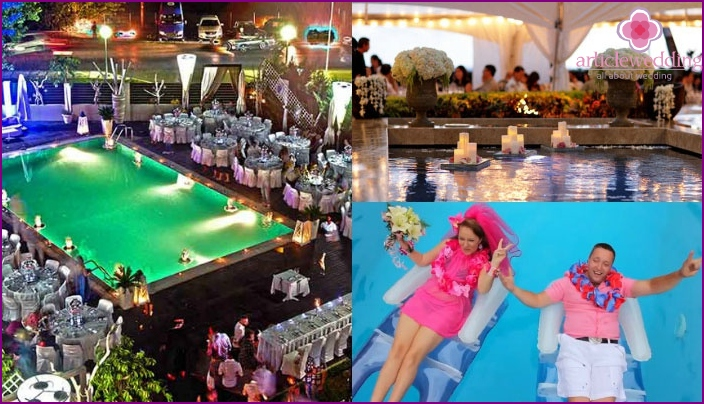 Hochzeit Hawaiian Pool Party Dekoration