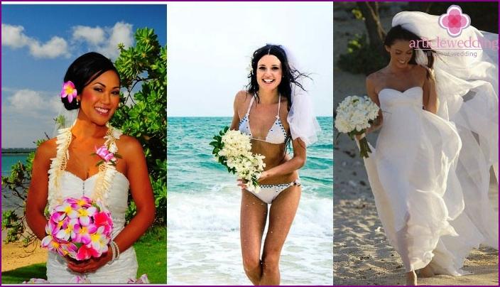 Hochzeitsbrautbild der hawaiianischen Art