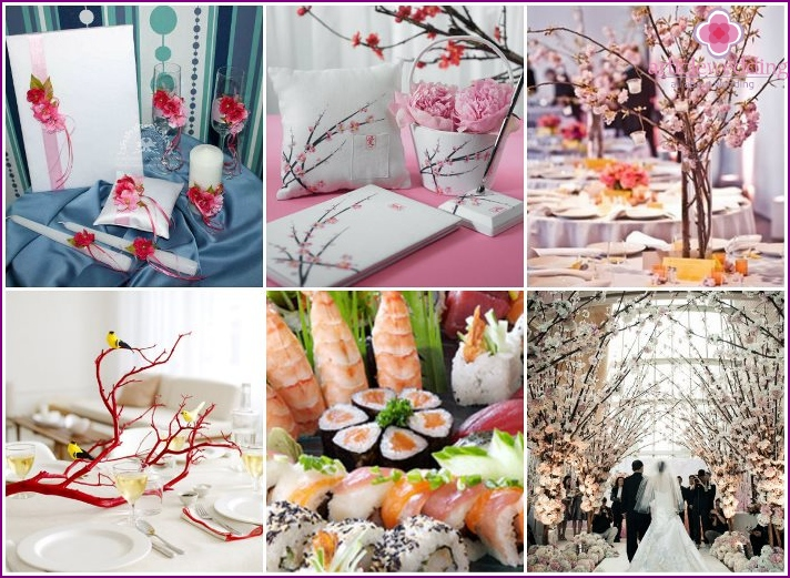 Sakura style - interior decoration for a wedding
