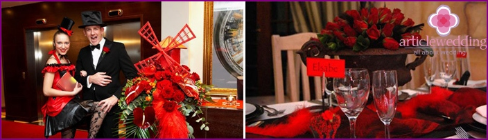 Red-black celebration design