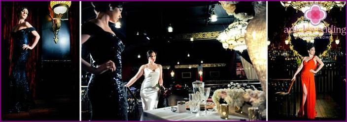 Gäste der Moulin Rouge Hochzeit