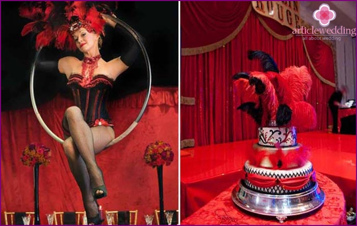 Hochzeit im Moulin Rouge-Stil