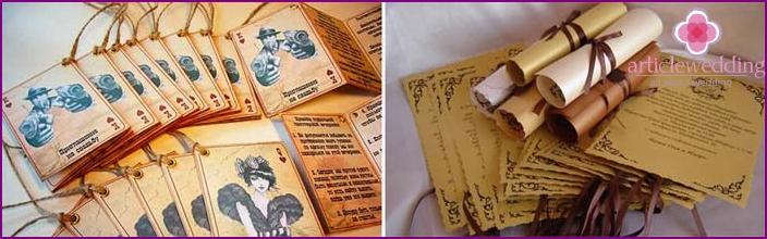 Original themed wedding invitations