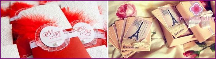 Moulin Rouge Style Hochzeitseinladungen