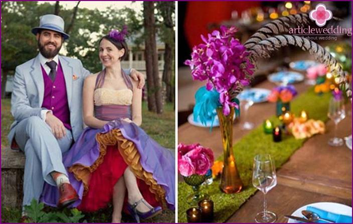 Hochzeitsfoto-Shooting im Stil des Moulin Rouge