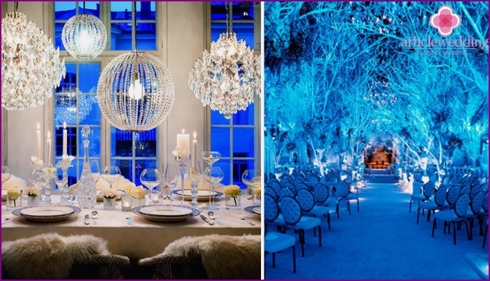 Room decoration for a winter wedding