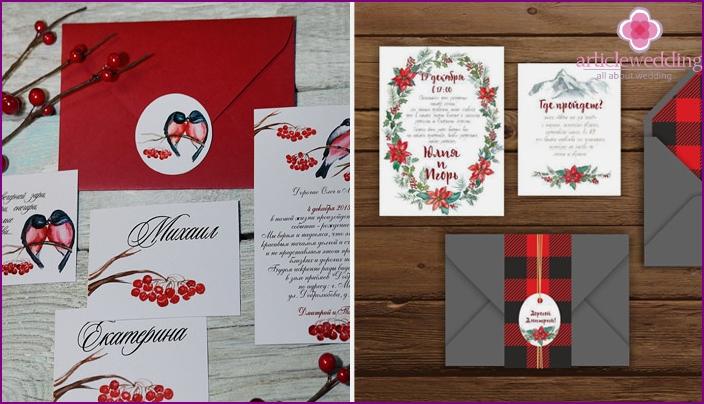 Winter Wedding Invitation Ideas