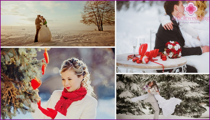 Examples of winter photo shoot
