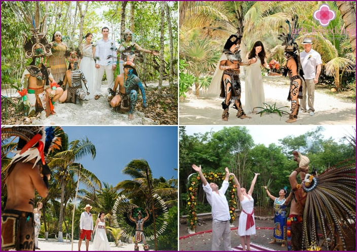 Mexican wedding among the jungle