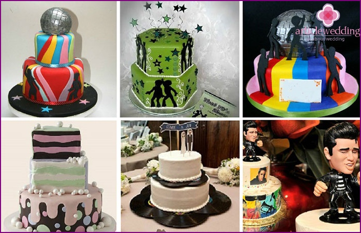 Examples of Disco Wedding Cakes