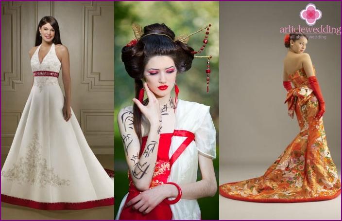 Japanese-style wedding bride image