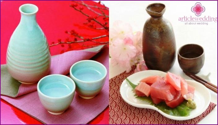 Sake - a traditional drink at Japanese weddings